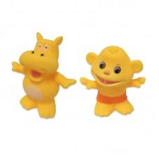 """Игрушка-брызгалка """"Веселое купание"""", в наборе с трамплином (бегемот и обезьянка) (ABtoys. Веселое купание, PT-00533)"""
