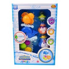 """Игрушки для ванной """"Веселое купание"""" в наборе с аксессуарами (5 предметов) (ABtoys. Веселое купание, PT-00541)"""
