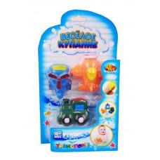 """Набор резиновых игрушек для ванной """"Веселое купание"""", 3 предмета (вертолет, поезд, самолет) (ABtoys. Веселое купание, PT-00880)"""