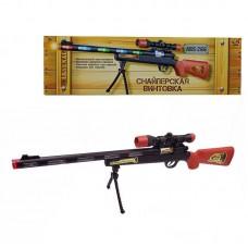 Снайперская винтовка с подставкой для стрельбы, эл/мех, со световыми и звуковыми эффектами, 56,5x4x16,5 см