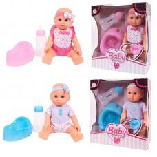 Кукла-пупс 25 см ПВХ, пьет и писает, в ассортименте 2 вида (розовая и голубая)