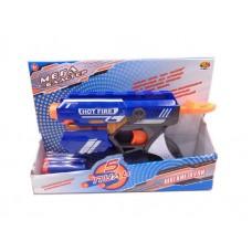 Мегабластер. Бластер стреляющий мягкими снарядами, 5 шт. в комплекте 19,5x4,5x27см