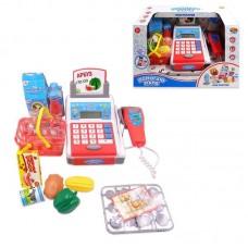"""Касса """"Помогаю Маме"""", в наборе с продуктами и аксессуарами (40 предметов), на батарейках, с эффектами"""