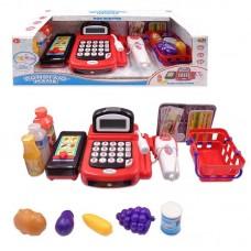 """Касса """"Помогаю Маме"""", в наборе с продуктами и аксессуарами (31 предмет), с эффектами, на батарейках"""