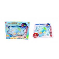 """Рыбалка """"Большой улов"""", 2 вида в ассортименте (розовый, голубой), в наборе с удочкой, аквариумом и аксессуарами"""