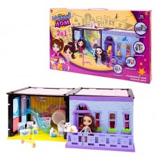 """Дом """"Модный дом"""", 2 в 1, в наборе с куклой и мебелью, 180 деталей"""