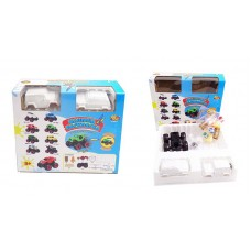 Набор для творчества. Машинка для раскраски, в наборе с аксессуарами,15 предметов, в коробке, 25x22x6,5 см (ABtoys, C-00217)