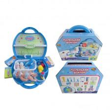 """Набор доктора """"Маленький доктор"""" с пупсом, 15 предметов, в чемодане (ABtoys, PT-00320пц)"""