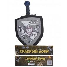 """Меч """"Храбрый воин"""" в наборе с щитом из вспененной пластмассы (ABtoys, PT-00356пц)"""