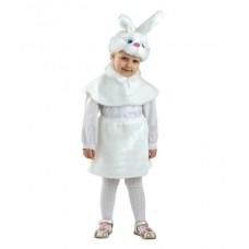 Костюм карнавальный Зайка (мех) размер 28 (детский)