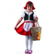 Костюм карнавальный Красная шапочка (текстиль) размер 26 (детский)