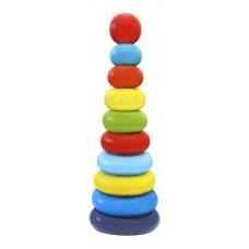 "Пирамидка ""Колечки"", 10 деталей, без коробки (упаковка - термопленка) (Alatoys, 50210)"