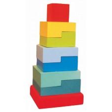 Пирамидка «Ступеньки», 8 деталей (Alatoys, ПСТ02)