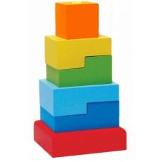 Пирамидка «Ступеньки», 6 деталей (Alatoys, ПСТ03)