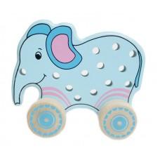 "Шнуровка-каталка ""Слон"" (Alatoys, ШСЛ01)"
