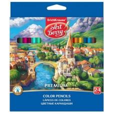 Карандаши цветные шестигранные ArtBerry Premium 24 цвета