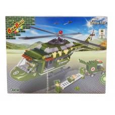 """Конструктор """"Военный вертолет-спасатель"""" 263 деталей Banbao (Банбао) (BANBAO, 8253)"""