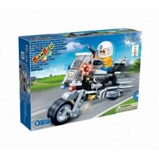 """Конструктор """"Полицейский на мотоцикле"""" 140 деталей Banbao (Банбао)"""
