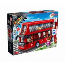 """Конструктор """"2-х этажный автобус"""", 412 деталей. Banbao (Банбао) (BANBAO, 8769)"""
