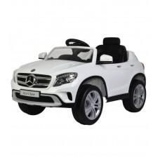 Детский электромобиль Barty Mercedes Benz GLA, белый с резиновыми колёсами и кондиционером