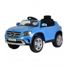 Детский электромобиль Barty Mercedes Benz GLA, синий с резиновыми колёсами и кондиционером