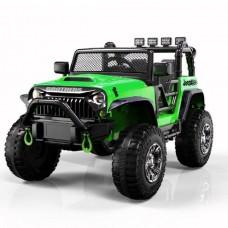 Электромобиль Barty Jeep Wrangler M999MP зеленый глянец