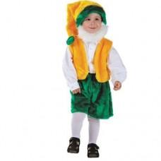 Костюм карнавальный Гном с бородой (мех) размер 28 (детский)