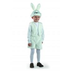 Костюм карнавальный Заяц белый (мех) размер 28 (детский) (Батик, 106-28-no)