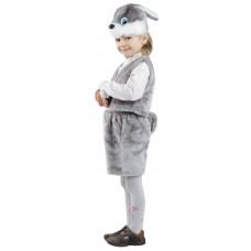 Костюм карнавальный Заяц серый (мех) размер 28 (детский) (Батик, 107-28)