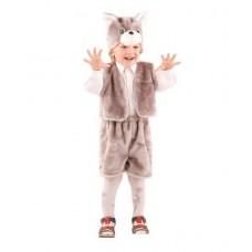 Костюм карнавальный Кот серый (мех) размер 28 (детский) (Батик, 108-28)