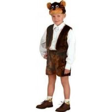 Костюм карнавальный Медведь бурый (мех) размер 28 (детский)