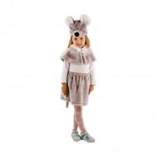 Костюм карнавальный Мышка серая (мех) размер 28 (детский)
