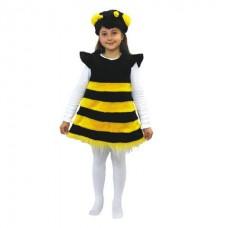 Костюм карнавальный Пчелка (мех) размер 28 (детский) (Батик, 136-28)