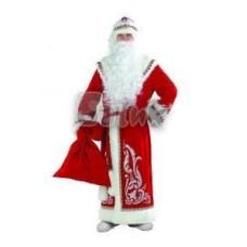 Костюм карнавальный Дед Мороз аппликация, красный, размер 54-56 (взрослый)