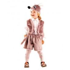 Костюм карнавальный Мышонок серый (мех) размер 28 (детский) (Батик, 156-28)