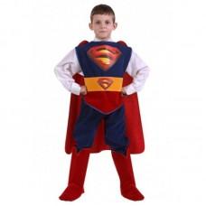 """Костюм карнавальный """"Супермен"""" (куртка, брюки, накидка, сапоги, пояс) Звездный маскарад размер 30"""