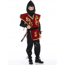 """Костюм карнавальный """"НИНДЗЯ"""" красный (куртка , брюки,накидка с поясом, шапка, меч Ниндзя) (текстиль) размер 32"""