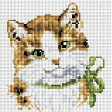 Мозаика алмазная на раме Кошка Алиса 20*20 см