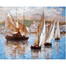 Раскраски по номерам. Картина Морская прогулка по Италии, 40x50 см