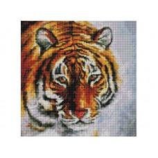 Мозаика алмазная на раме Тигр на снегу 30*30 см