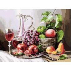 Раскраски по номерам Натюрморт с фруктами 30*40 см