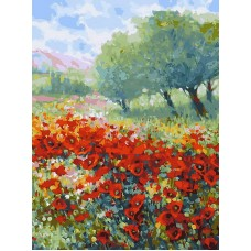 Живопись на холсте 30*40 см Весна в Провансе