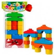 Конструктор мягкий для малышей ( в пакете) 14 деталей (БИПЛАНТ, 11125)