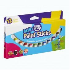 Краски в стиках Little Brian мини, в наборе12 цветов