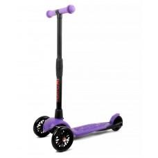 Самокат детский трехколесный АЛЬФА (Buggy Boom Alfa Model) с регулируемой складной ручкой (фиолетовый 93)