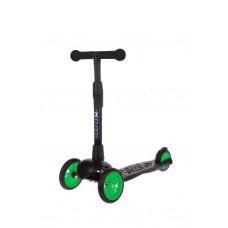 Самокат детский трехколесный АЛЬФА (Buggy Boom Alfa Model) с цветным колесом (зеленый 85)