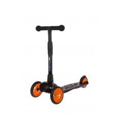 Самокат детский трехколесный АЛЬФА (Buggy Boom Alfa Model) с цветным колесом (оранжевый 89)