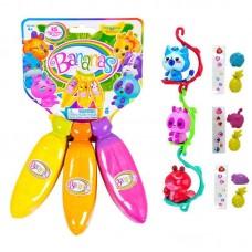 Bananas Игрушка связка из 3х бананов, цвета оранжевый, желтый, розовый
