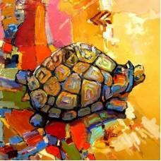 CD011/Черепаха удачи -раскраска по номерам