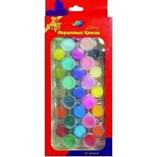 KK001/Краски акриловые - набор 30 цветов